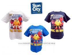 Футболки детские на 3-6 лет Pac-Man Пиксель, бренд Sun City Франция