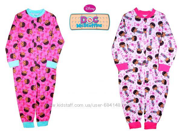 Пижамы сдельные слипы, человечек хлопок Доктор Плюшева, Англия 1-5 лет