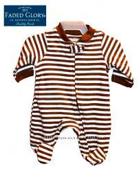 Слип человечек хлопковый новорожденные Preemie, Faded Glory Америка США