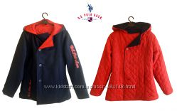 Двусторонняя куртка пальто шерсть на 14-16 лет, US Polo ASSN Америка