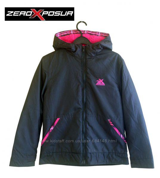 Курточка демисезон с капюшоном черная на 14 л 158-164см, ZeroXposur Америка