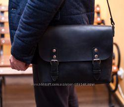 Сумки мужские натуральная кожа на плечо Почтальон эксклюзив messenger bag