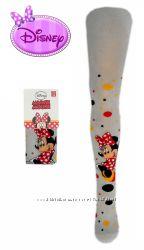 Колготы для девочек серые с рисунком Мини Маус, бренд Disney
