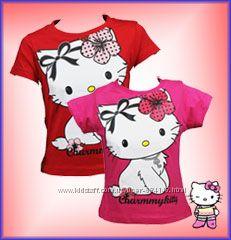 Распродажа летней одежды Футболки топы для девочек Kitty Кити, 2 -6 лет