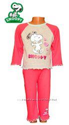 Пижама - капри для девочек Снупи  хлопковая, бренд Snoopy by Schulz