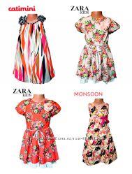 Распродажа летней одежды Платья, сарафаны, бренд Zara, Monsoon, Catimini