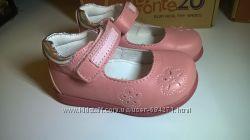Акция р. 22-24 D. D. Step Ponte 20 Ортопедические кожаные туфли.