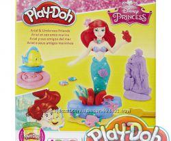 Плей-Дох пластилин Принцесса Ариэль и подводные друзья Play-Doh B5529 Ориги