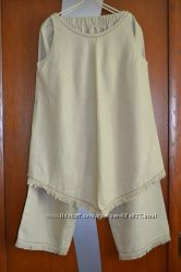 Льняной костюмчик для будущей мамочки