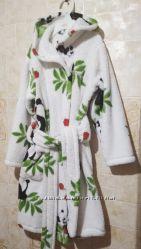 Махровый халат с капюшоном, детский, 3-6 лет
