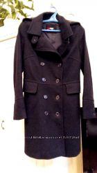 Шерстяное чёрное пальто Sinequanone