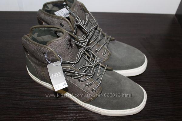 Новые модные ботинки из замши NEXT подростку  41размер