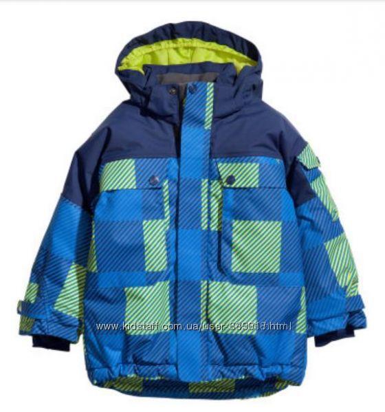 Теплые зимние куртки мальчику H&M на 3-5лет