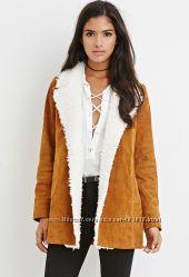 Куртка из натуральной замши Forever21 размеры М и L