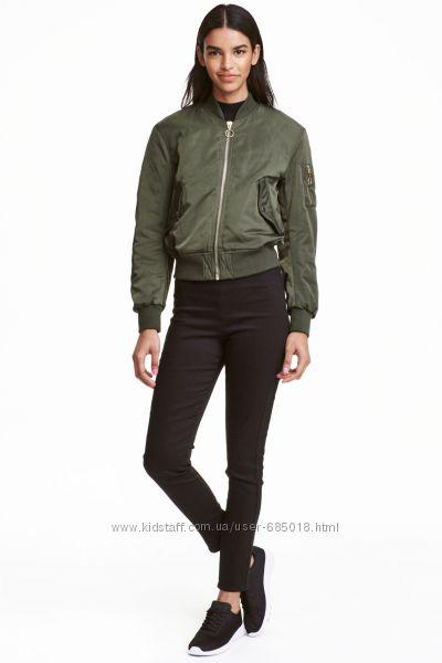Стрейчевые брюки H&M DIVIDED Super Skinny High Waist р. 40