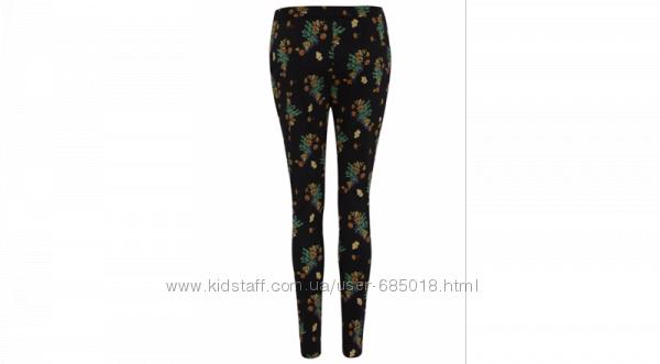 Стрейчевые брюки GEORGE Floral Printed Trousers разм. UK14