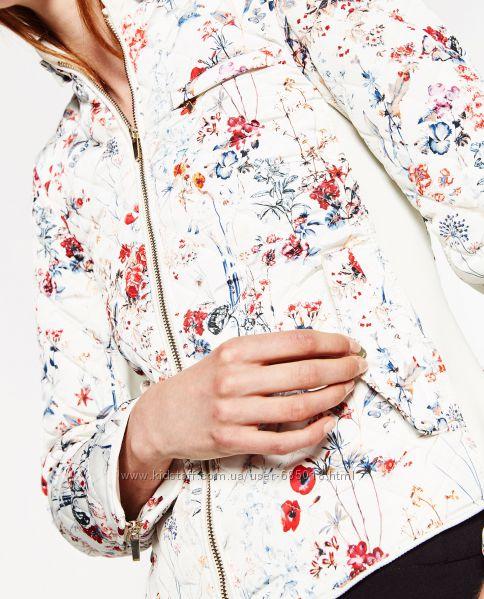 Стильная демисезонная стёганая куртка Zara размерL