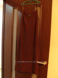 Вечернее платье на бретелях-бусинах