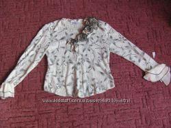 С тильная блузка стрейчевый гипюр на 46-50размер я