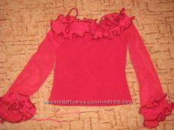 Шикарная Турецкая красная блуза на 46-48 р. фирма Danza на Новый год
