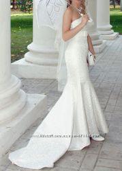 свадебное платье силуэт рыбка