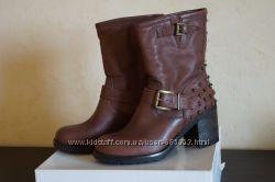 Модные сапожки итальянского бренда Mood, 38 р. кожа