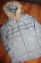 Зимова куртка на холофайбері  натуральна опушка