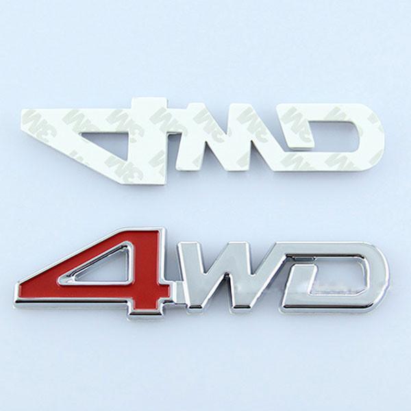 Наклейка 4WD серебро