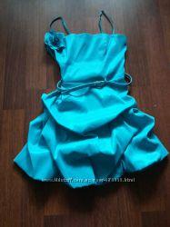 платье вечернее голубого цвета