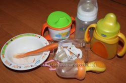 бутылочки пустышки поилки посуда Авент Чико