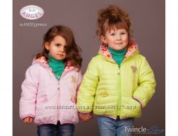 Куртка, плащевка, утеплитель, флис, девочка, осень Baby Angel