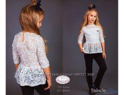 Красивая, кружевная блуза в школу, Baby Angel, размер 122-134