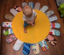 Мягкий коврик одеяло для ребенка в коляску кроватку на пол