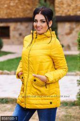 Куртка осень-зима р. 48-58 хаки и желтый