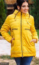 Куртка осень-зима р. 48-58 темно-синий, желтый, черная