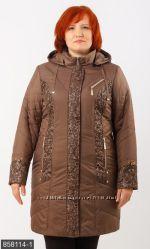 Пальто плащевка р. 50-58 осень разные цвета