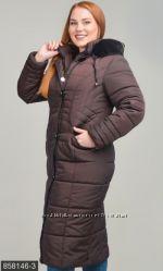 Пальто зима силикон р. 52-64 разные цвета