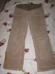 вельветові штани для вагітної 50-52р