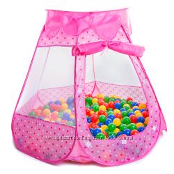 Палаточный домик  100 разноцветных шаров в комплекте