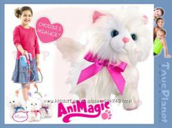 Идеальный подарок Интерактивный котенок на поводке Animagic - Фифи