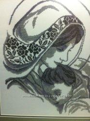 Ікона образ Мадонна з Дитям бісер