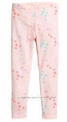 Лосины H&M Розовые в цветные бабочки Размер 140 на 9-10 лет