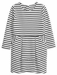 Модельное платье H&M c длинным рукавом Размеры на 4-8 лет