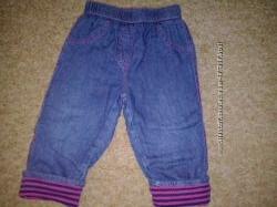 джинсы 12-18 мес на подкладке деми