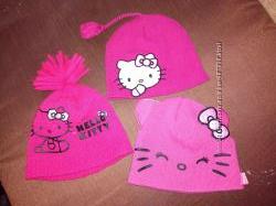 шапки для модницы hello kitty 3-6лет