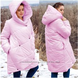Женская стильная куртка-одеяло , с капюшоном