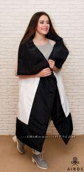 Женский длинный жилет-одеяло, квадрат