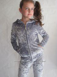 Модный велюровый костюм на девочку