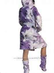 Бамбуковый Халат с сапожками на девочку. Лилия.
