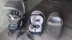 Коляска Teutonia BeYou 2в1, автокресло Gracо Logico S HP